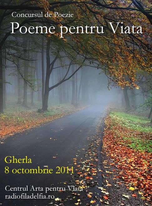 """Concursul de poezie """"Poeme pentru Viata"""""""