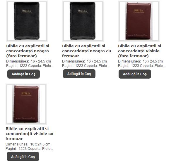 BIBLII CU EXPLICATII SI CONCORDANTA