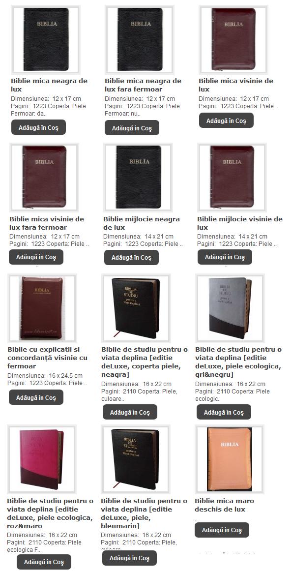 BIBLII cu INDEX