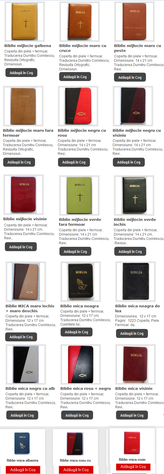 BIBLII MICI SI MIJLOCII