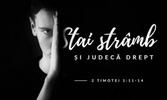 Cristian Sonea: Stai stramb si judeca drept
