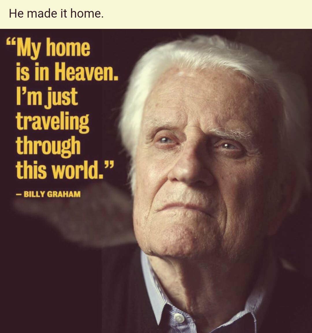 Viorel Iuga: Billy Graham a plecat acolo unde şi-a asigurat locul. El s-a mutat pe tărâmul veşnic