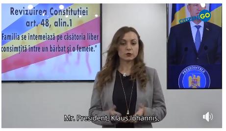 CitizenGo ne-au trimis acest videoclip prin care îşi arată susţinerea faţă de cei 3.000.000 de români
