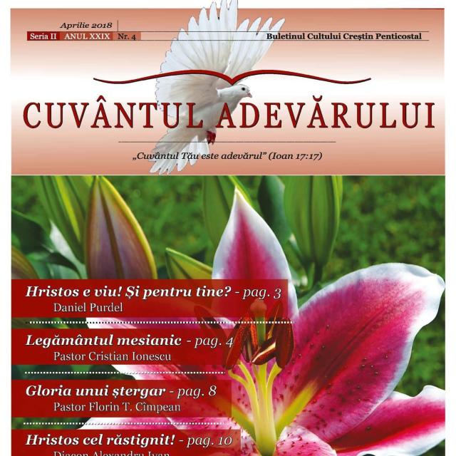 A apărut nr. 4/2018 al revistei Cuvantul Adevarului – on-line
