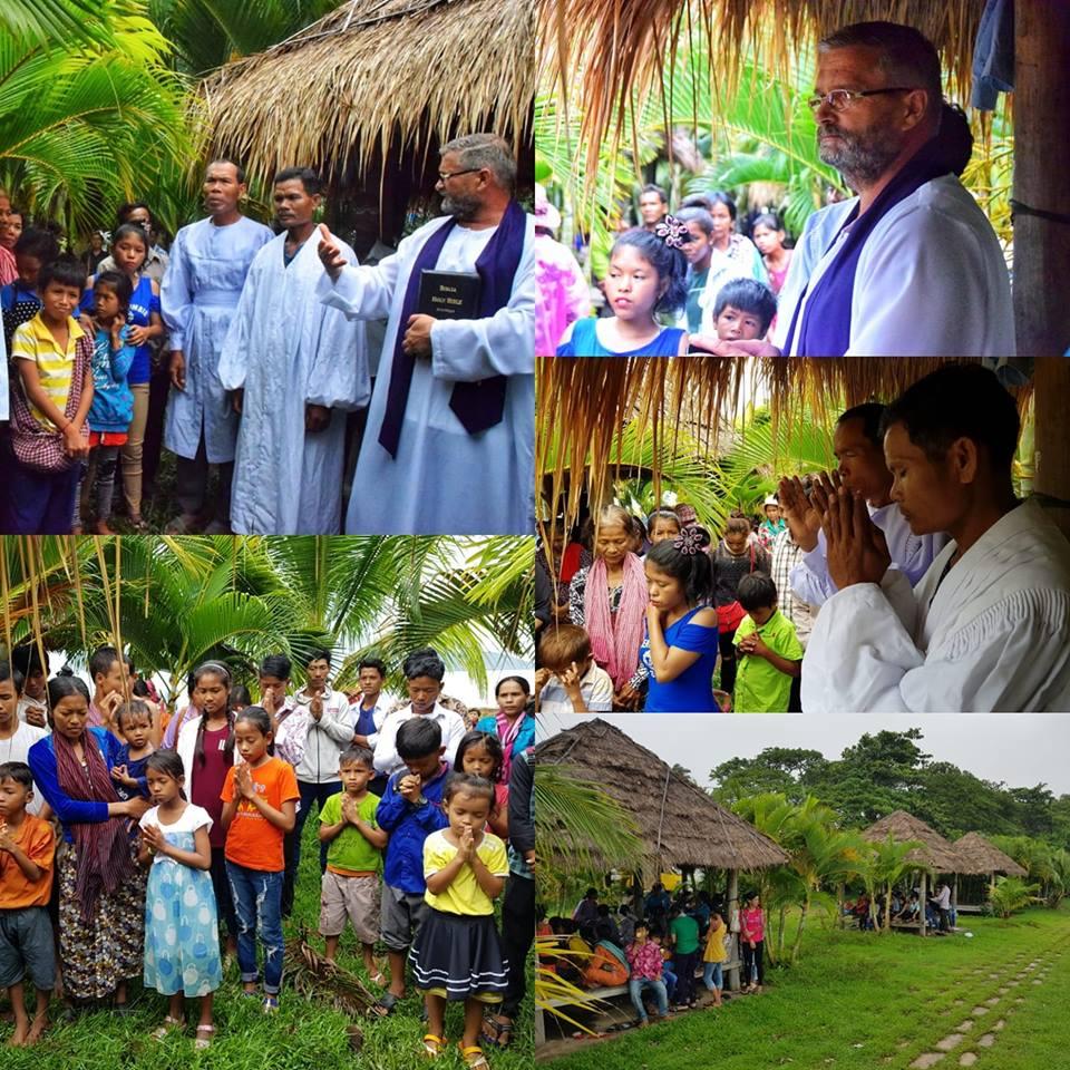 VIDEO – Cambogia: Peste 700 de persoane au marturisit credinta lor in apa botezului!