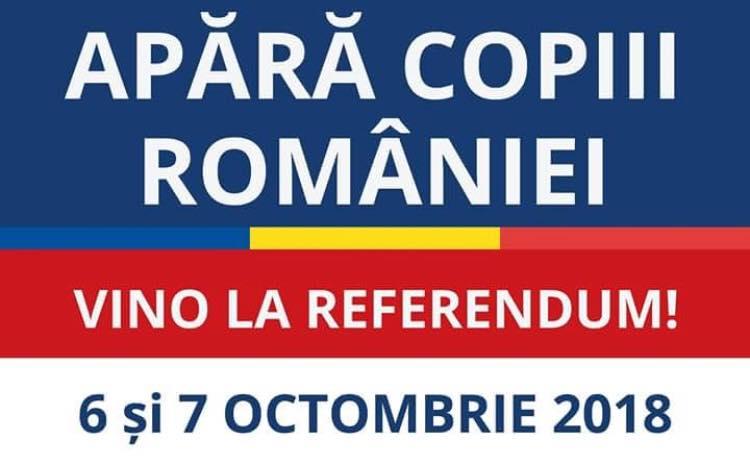 """Sondaj: REFERENDUM pentru FAMILIE """"Sunteți de acord cu Legea de revizuire a Constituției României în forma adoptată de Parlament?"""""""