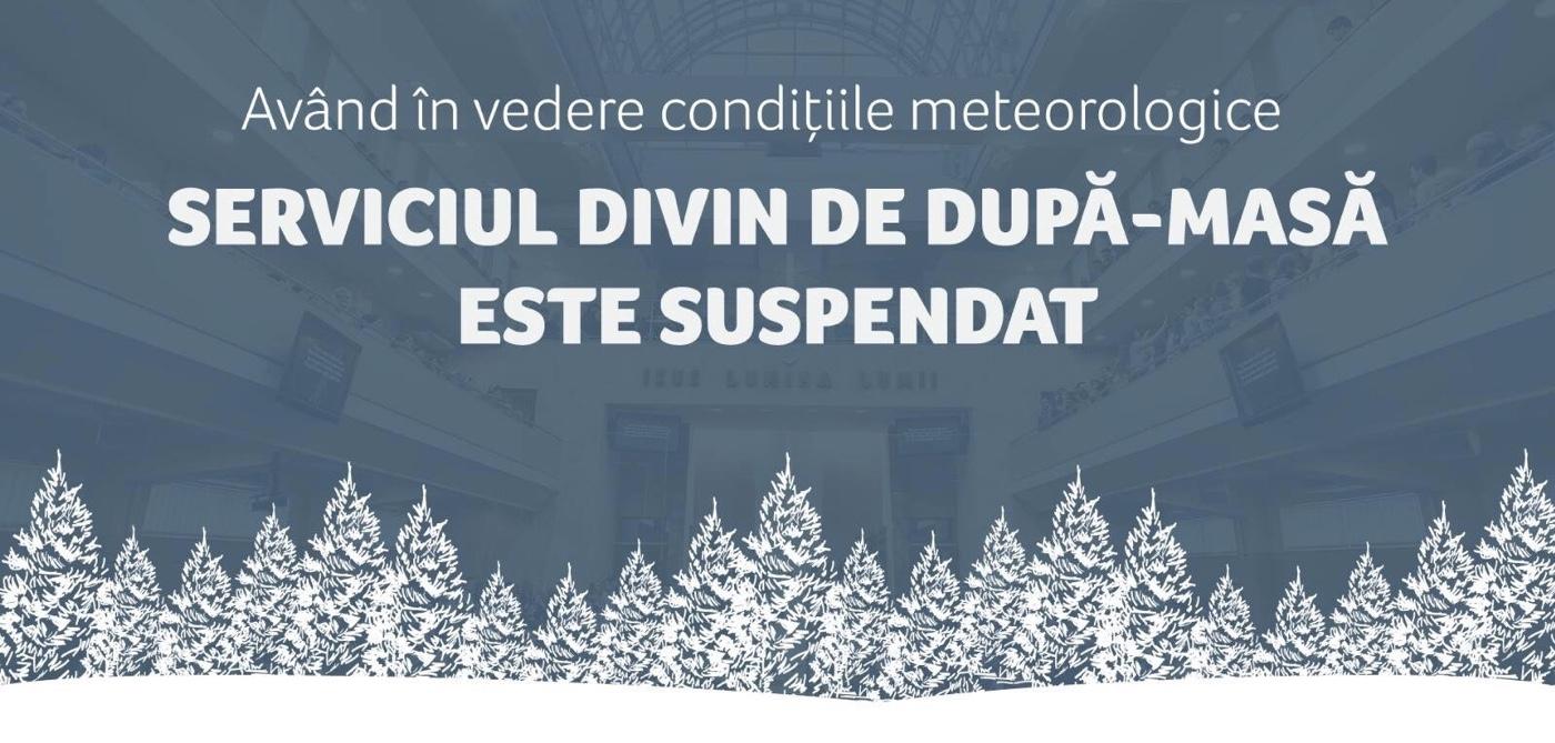 Cel putin doua Biserici din Timisoara isi suspenda programul de azi din cauza conditiilor meteo!