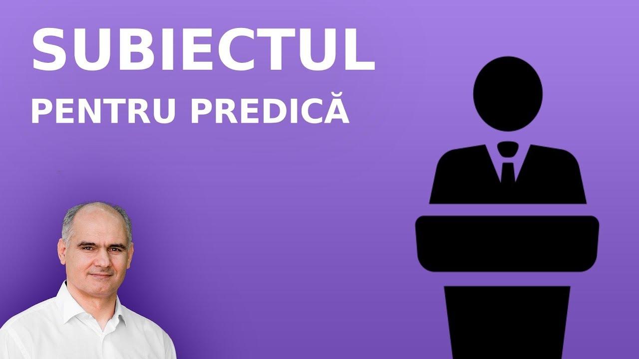 Cum să alegi subiectul pentru predică? | Pastor Vasile Filat