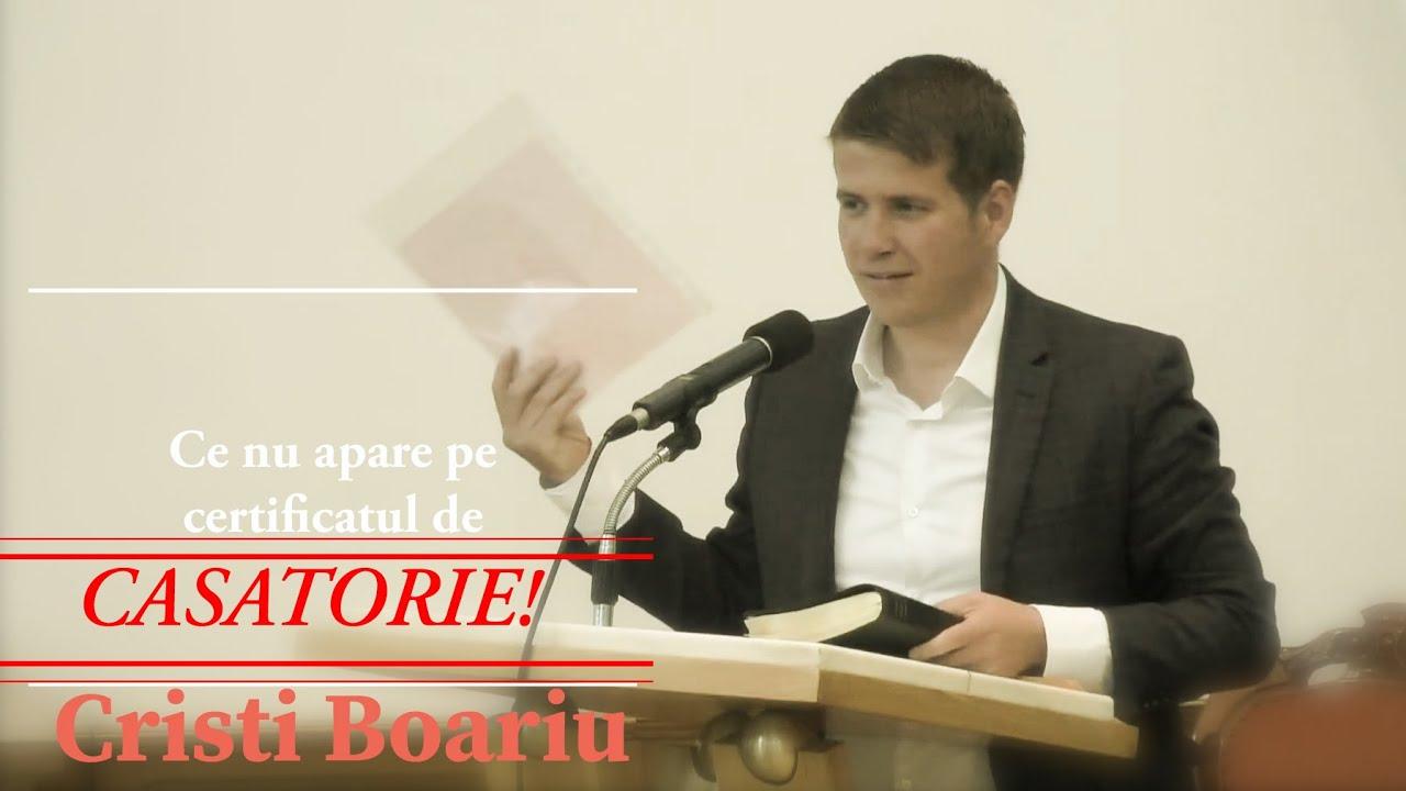Cristi Boariu – Ce nu apare pe certificatul de CASATORIE!