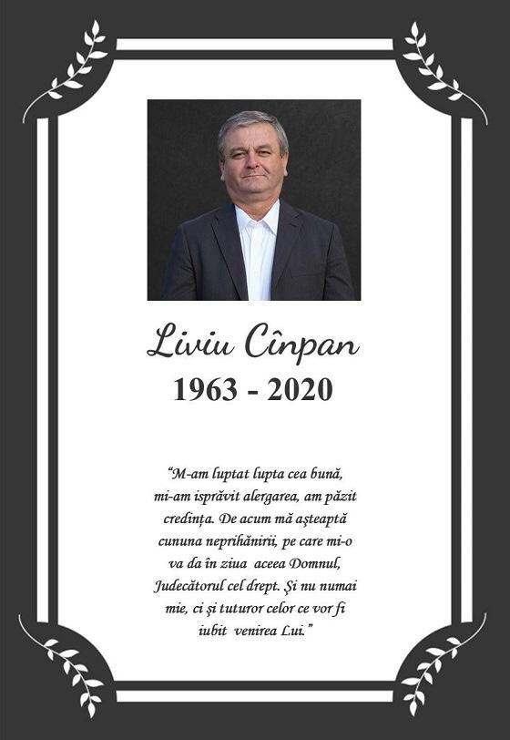 Pastorul Liviu Cînpan a plecat în veșnicie!