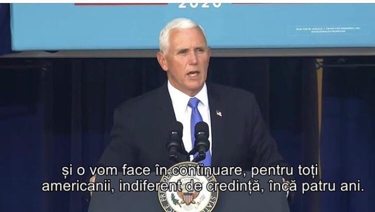 Mike Pence: Eu și președintele am susținut în fiecare zi libertatea religioasă și o vom face în continuare