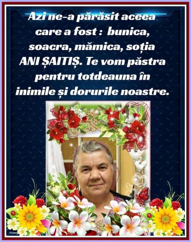 Mama misionarului Marcel Șaitiș a plecat ACASĂ la Domnul! Vă invit să mijlocim și să ne rugăm pentru această familie încercată!